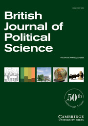 British Journal of Political Science Volume 50 - Issue 3 -