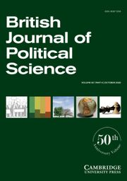 British Journal of Political Science Volume 50 - Issue 4 -