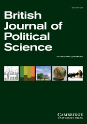 British Journal of Political Science Volume 51 - Issue 1 -