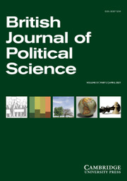 British Journal of Political Science Volume 51 - Issue 2 -