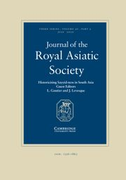 Journal of the Royal Asiatic Society Volume 30 - Issue 3 -