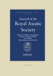 Journal of the Royal Asiatic Society Volume 31 - Issue 3 -