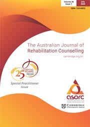 The Australian Journal of Rehabilitation Counselling