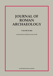 Journal of Roman Archaeology Volume 27 - Issue  -