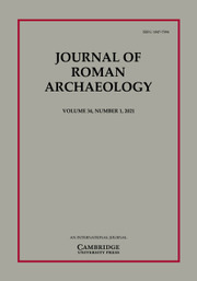 Journal of Roman Archaeology Volume 34 - Issue 1 -