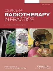 Journal of Radiotherapy in Practice Volume 14 - Issue 1 -