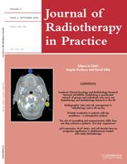 Journal of Radiotherapy in Practice Volume 5 - Issue 3 -