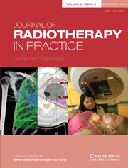 Journal of Radiotherapy in Practice Volume 8 - Issue 3 -