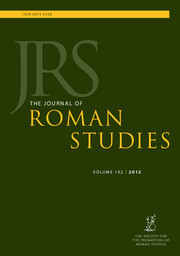 The Journal of Roman Studies Volume 102 - Issue  -