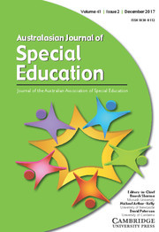 Australasian Journal of Special and Inclusive Education Volume 41 - Issue 2 -