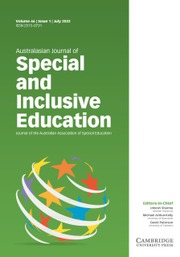 Australasian Journal of Special and Inclusive Education