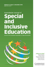 Australasian Journal of Special and Inclusive Education Volume 42 - Issue 2 -