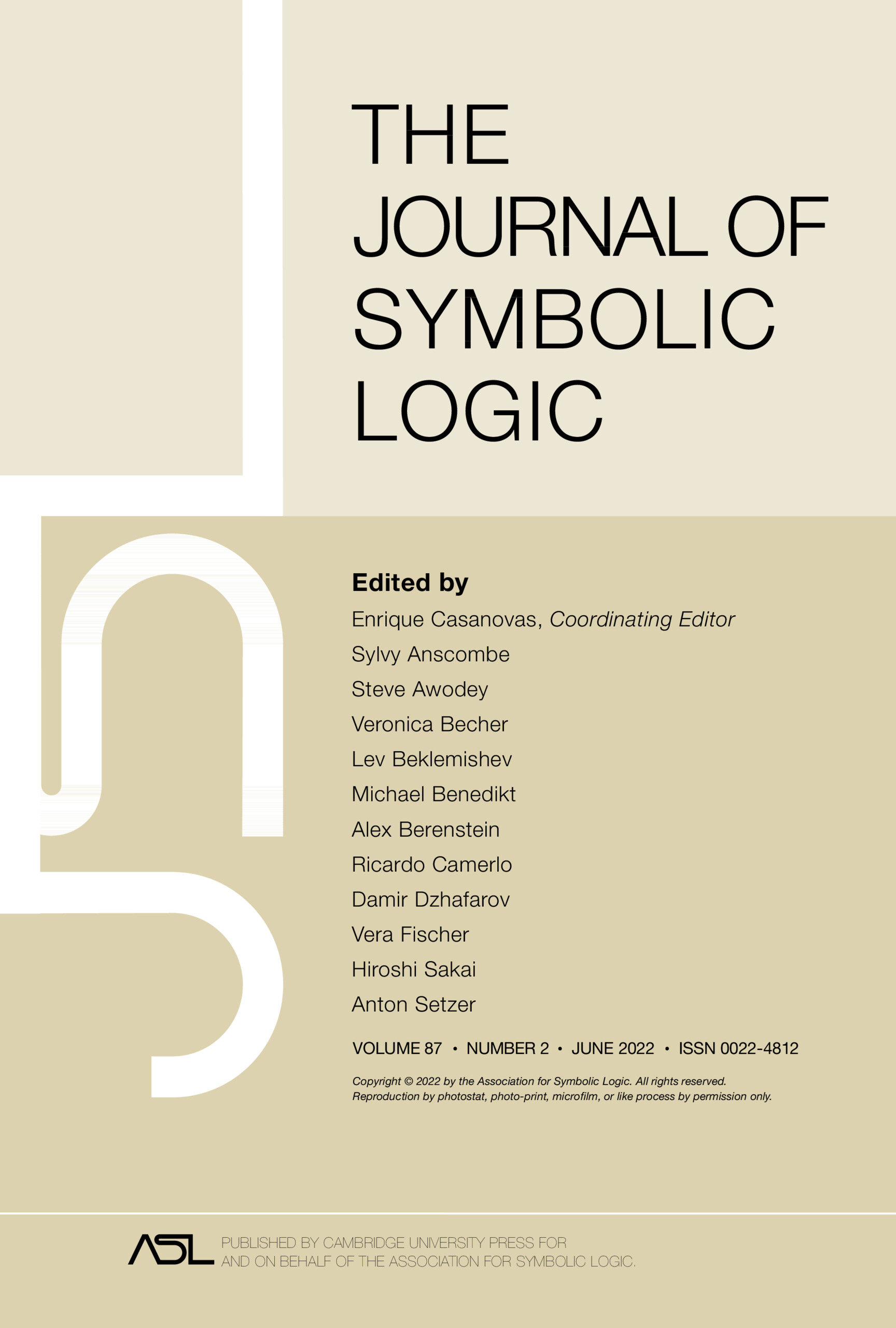 The Journal Of Symbolic Logic Cambridge Core