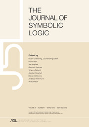 The Journal of Symbolic Logic Volume 79 - Issue 1 -