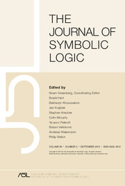 The Journal of Symbolic Logic Volume 80 - Issue 3 -