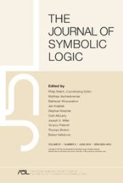 The Journal of Symbolic Logic Volume 81 - Issue 2 -