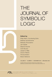 The Journal of Symbolic Logic Volume 81 - Issue 4 -