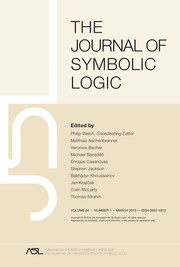 The Journal of Symbolic Logic Volume 84 - Issue 1 -