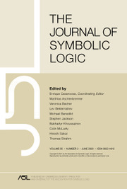The Journal of Symbolic Logic Volume 85 - Issue 2 -