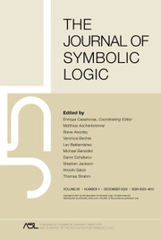 The Journal of Symbolic Logic Volume 85 - Issue 4 -