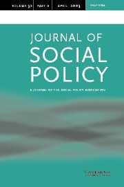 Journal of Social Policy Volume 32 - Issue 2 -