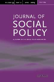 Journal of Social Policy Volume 33 - Issue 2 -