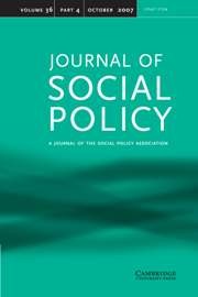 Journal of Social Policy Volume 36 - Issue 4 -