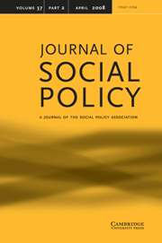 Journal of Social Policy Volume 37 - Issue 2 -