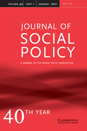 Journal of Social Policy Volume 40 - Issue 1 -