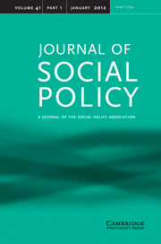 Journal of Social Policy Volume 41 - Issue 1 -