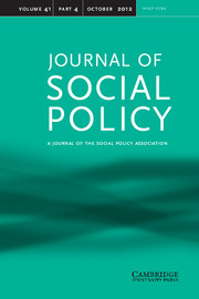 Journal of Social Policy Volume 41 - Issue 4 -