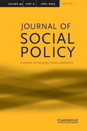 Journal of Social Policy Volume 42 - Issue 2 -