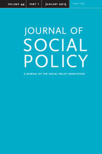 Journal of Social Policy Volume 44 - Issue 1 -