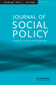 Journal of Social Policy Volume 44 - Issue 3 -