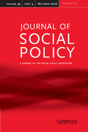 Journal of Social Policy Volume 45 - Issue 4 -