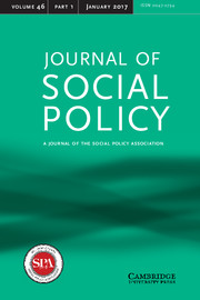 Journal of Social Policy Volume 46 - Issue 1 -