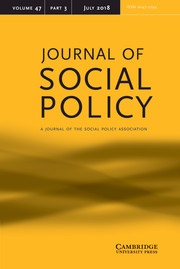 Journal of Social Policy Volume 47 - Issue 3 -