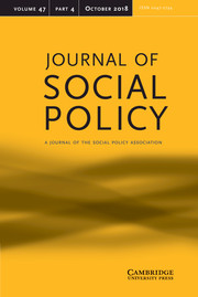 Journal of Social Policy Volume 47 - Issue 4 -