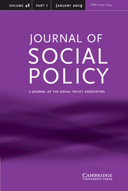 Journal of Social Policy Volume 48 - Issue 1 -