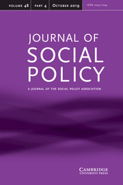 Journal of Social Policy Volume 48 - Issue 4 -