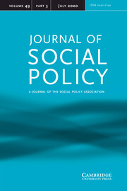 Journal of Social Policy Volume 49 - Issue 3 -