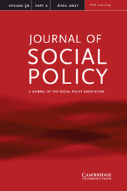 Journal of Social Policy Volume 50 - Issue 2 -