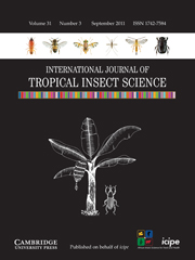International Journal of Tropical Insect Science Volume 31 - Issue 3 -