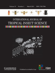 International Journal of Tropical Insect Science Volume 33 - Issue 1 -