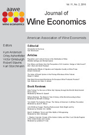 Journal of Wine Economics Volume 11 - Issue 2 -