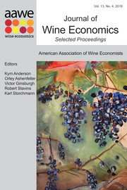 Journal of Wine Economics Volume 13 - Issue 4 -