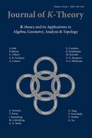Journal of K-Theory Volume 10 - Issue 1 -
