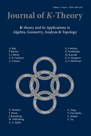Journal of K-Theory Volume 11 - Issue 1 -