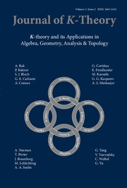 Journal of K-Theory Volume 11 - Issue 2 -