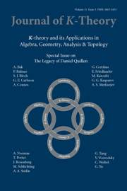 Journal of K-Theory Volume 11 - Issue 3 -  The Legacy of Daniel Quillen